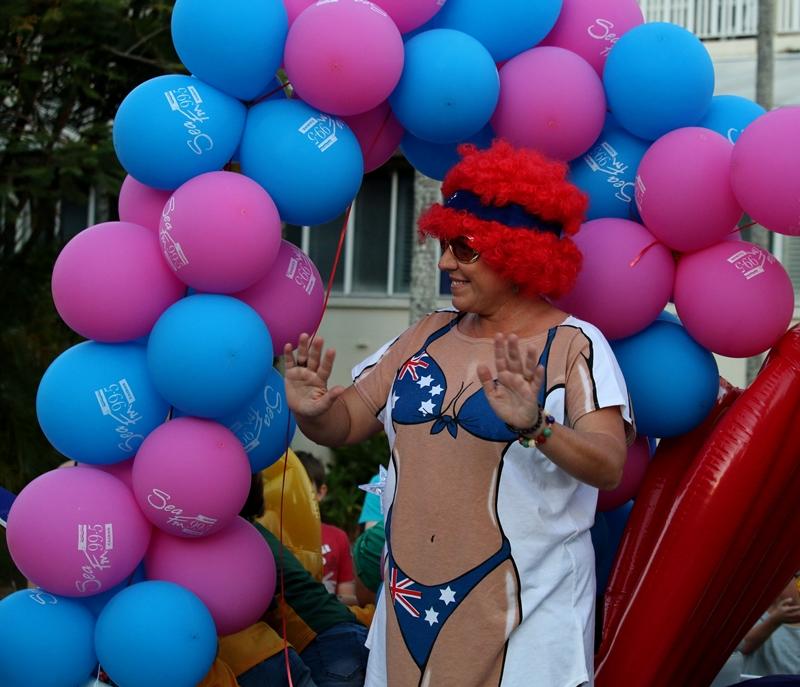 Bikini with balloons