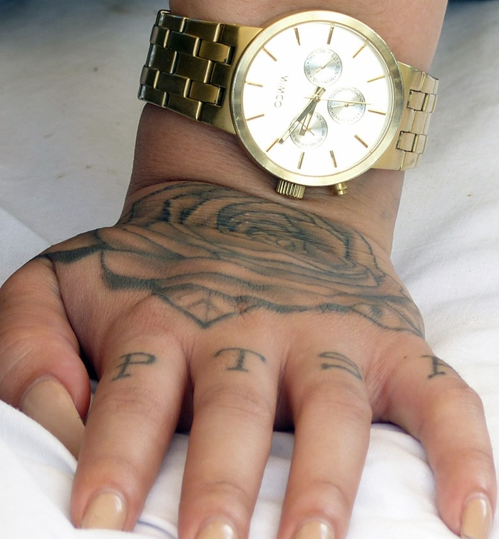 Time on her hand